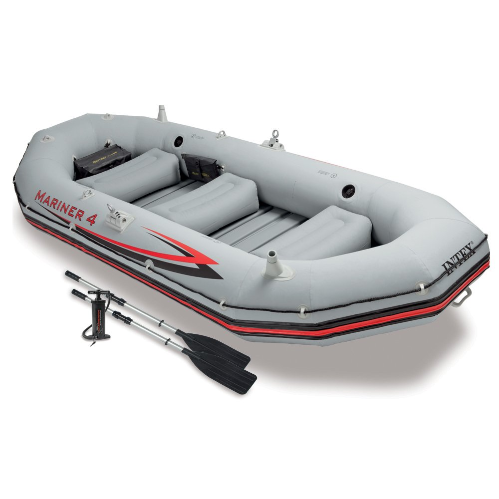 Intex Marina 4, 4 Person Inflatable Boat Set
