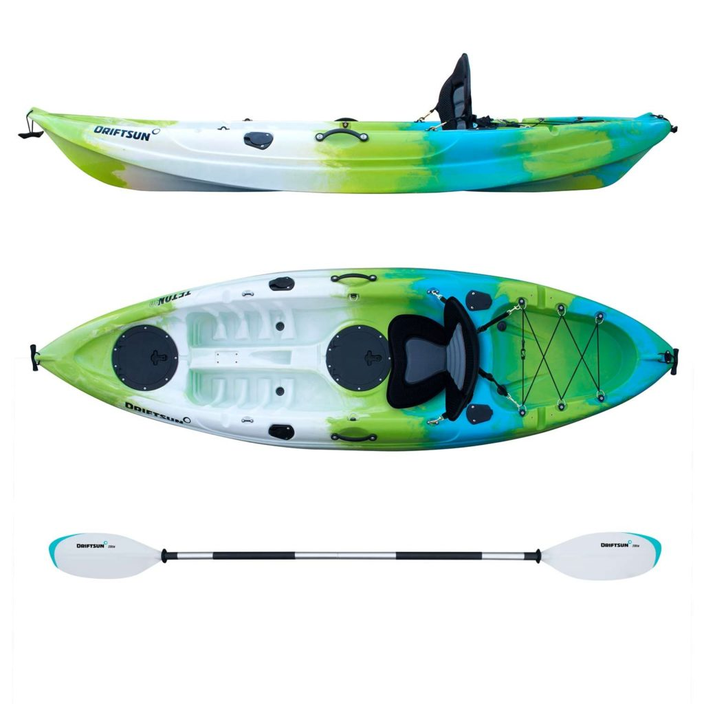 Driftsun Teton 120 Hard Shell Recreational Tandem Kayak