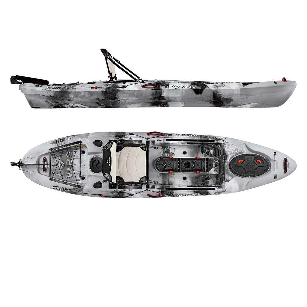 Vibe Kayaks Sea Ghost 110 and Ghost 130 Fishing Kayak